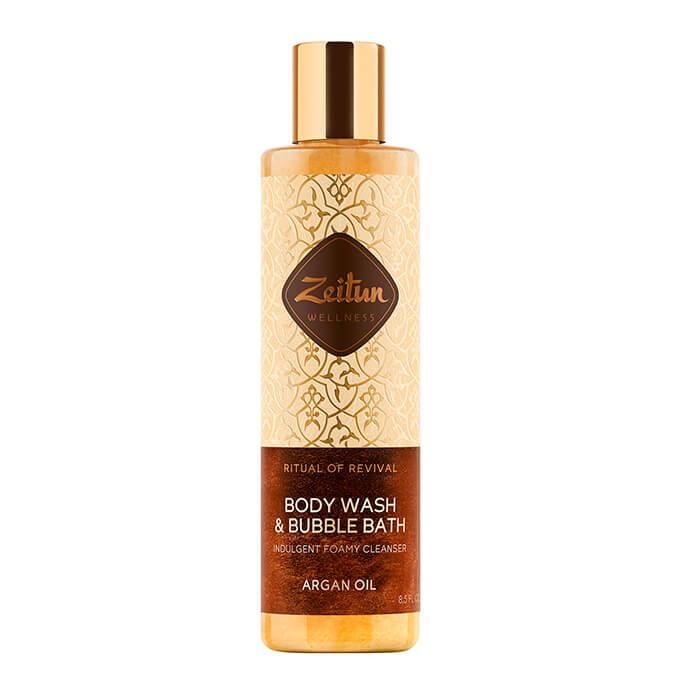 Купить Гель для душа Zeitun Ritual Of Revival Body Wash & Bubble Bath - Argan Oil, Гель для ванны и душа с органическим маслом арганы, Иордания