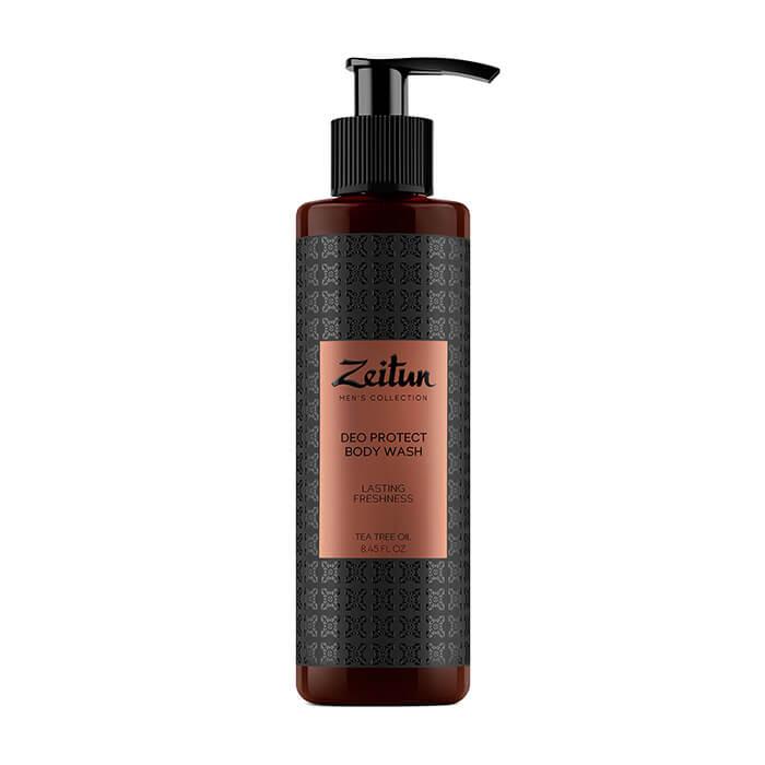 Гель для душа Zeitun Tea Tree Oil Deo Protect Body Wash Мужской антибактериальный гель для душа защитный с маслом чайного дерева фото