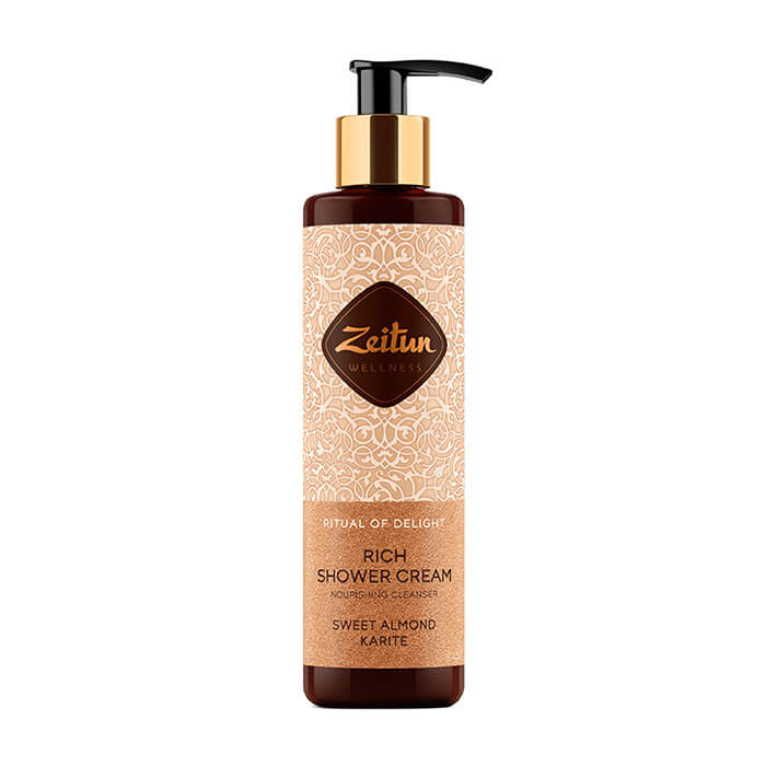 Купить Крем для душа Zeitun Ritual of Delight Rich Shower Cream, Питательный крем для душа с маслом карите и сладким миндалем, Иордания