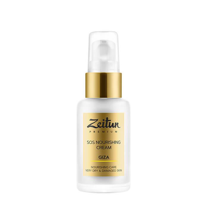 Купить Крем для лица Zeitun Giza SOS Nourishing Cream, Восстанавливающий SOS-крем для мгновенного питания кожи лица, Иордания