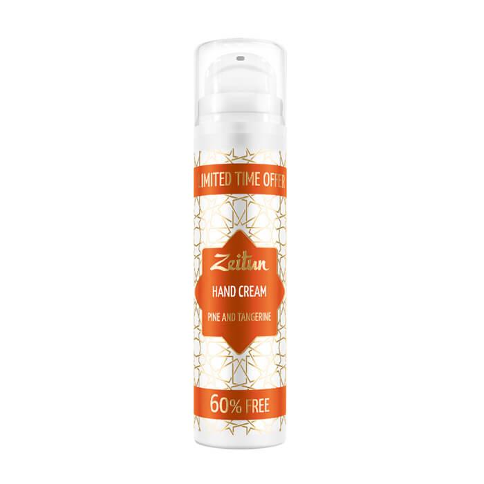 Купить Крем для рук Zeitun Pine & Tangerine Hand Cream, Лёгкий крем для рук с эфирными маслами сосны и мандарина, Иордания