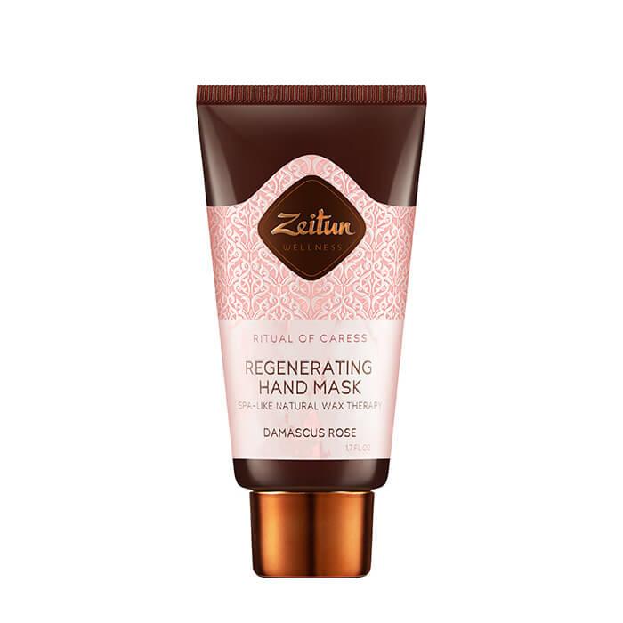 Купить Крем-маска для рук Zeitun Ritual of Caress Regenerating Hand Mask, Восстанавливающая крем-маска для рук с эффектом парафинотерапии в домашних условиях, Иордания