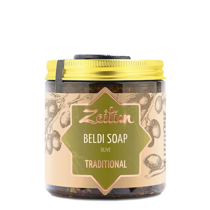 Марокканское бельди Zeitun Beldi Soap Olive Traditional №1 Натуральное деревенское мыло бельди с оливой и эвкалиптом