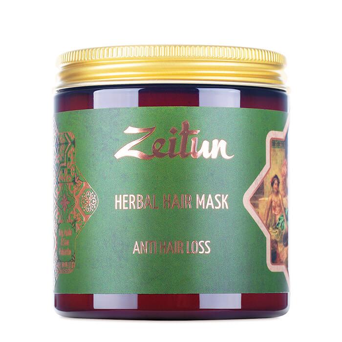 Маска для волос Zeitun Herbal Hair Mask Anti Hair Loss Фито-маска против выпадения волос с грязью Мёртвого моря фото