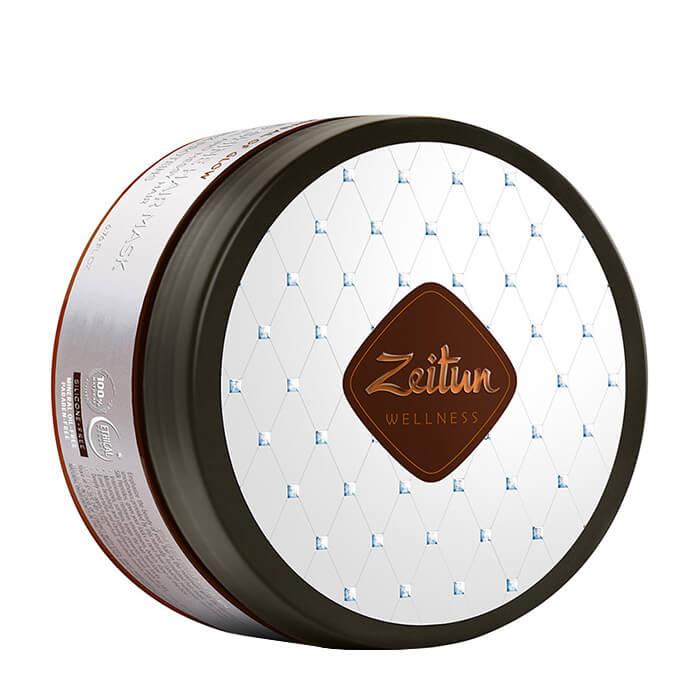 Купить Маска для волос Zeitun Ritual of Glow Hair Mask, Маска-активатор для гладкости и блеска волос с пептидами шёлка, Иордания