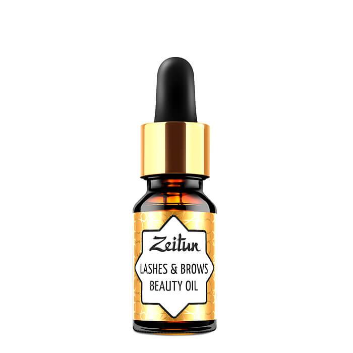 Купить Масло для ресниц и бровей Zeitun Lashes & Brows Beauty Oil (10 мл), Смесь натуральных растительных масел для ресниц и бровей, Иордания
