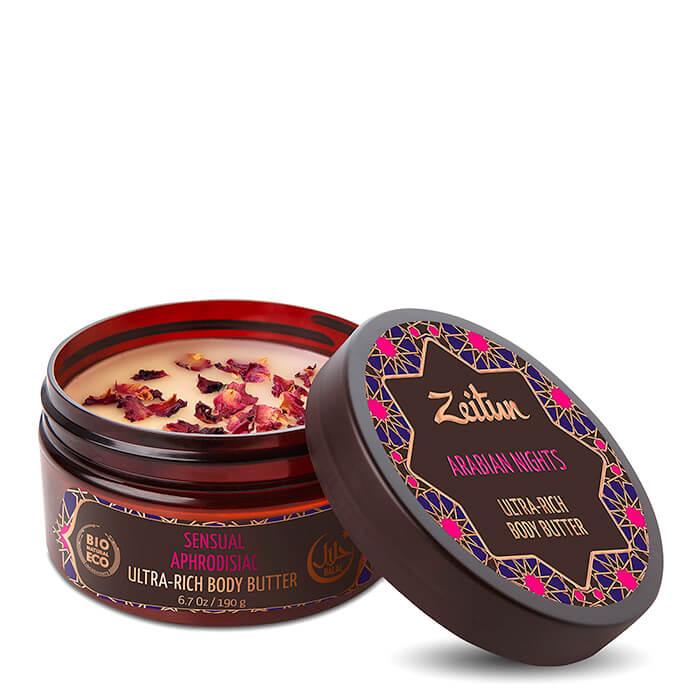 Купить Масло для тела Zeitun Arabian Nights Ultra-Rich Body Butter, Чувствительное крем-масло для тела с афродизиаком, Иордания