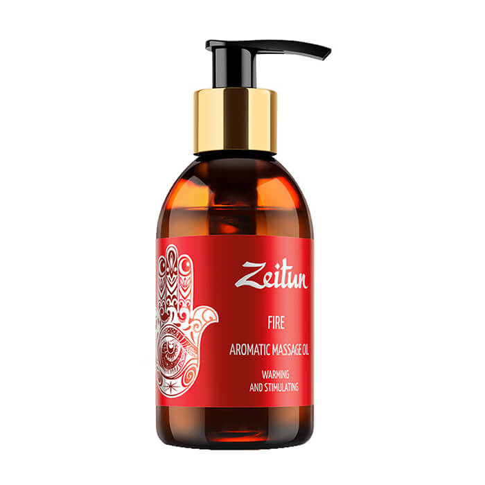 Массажное масло Zeitun Fire Aromatic Massage Oil Ароматическое массажное масло с имбирем и корицей фото