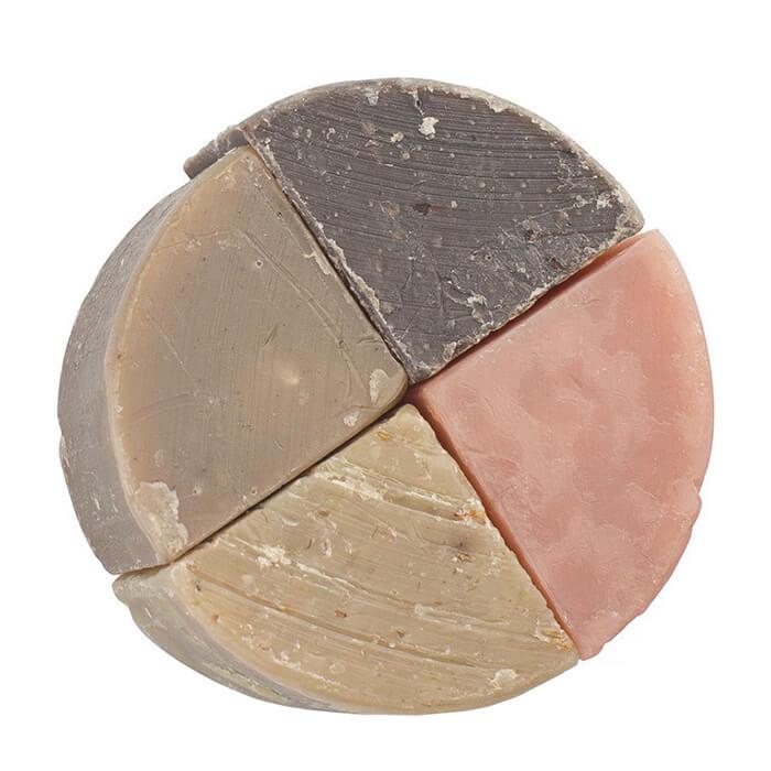 Купить Мыло для лица и тела Zeitun Ассорти, Натуральное алеппское мыло из четырех различных сегментов, Иордания