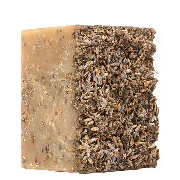 Мыло для лица Zeitun №1 Лавандовый скраб Натуральное аллепское оливково-лавровое мыло с цветами лаванды фото