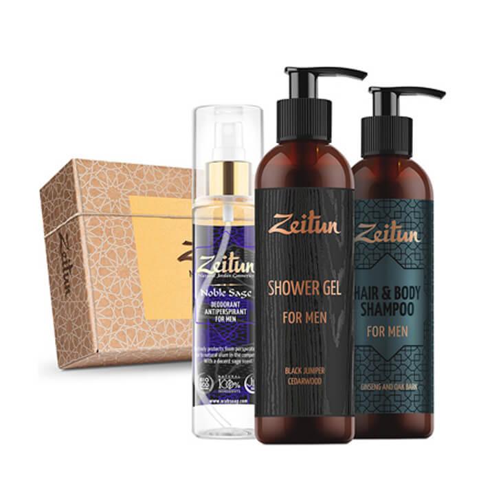 Набор подарочный Zeitun For Men Набор для ухода за телом и волосами с натуральными компонентами фото