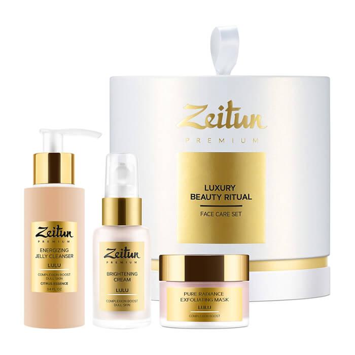Купить Набор подарочный Zeitun Luxury Beauty Ritual Face Care Set для идеального цвета кожи, Премиальный набор косметики для пробуждения и тонизирования кожи лица, Иордания