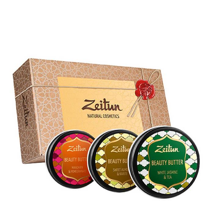 Купить Набор подарочный Zeitun Секреты красоты, Подарочный набор из трёх универсальных бьюти-баттеров для лица и тела, Иордания