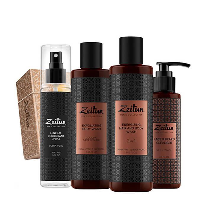 Купить Набор подарочный Zeitun Свежесть 24, Подарочный набор из четырёх средств со свежим бодрящим ароматом для мужчин, Иордания