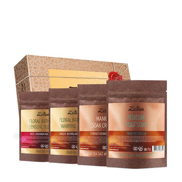 Купить Набор подарочный Zeitun Ванна красоты, Подарочный набор из четырёх видов натуральной соли для ванн, Иордания