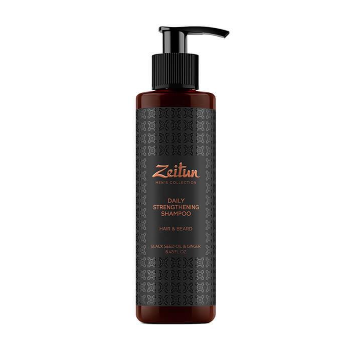 Купить Шампунь для волос и бороды Zeitun Black Seed Oil & Ginger Daily Strengthening Shampoo, Мужской укрепляющий шампунь для волос и бороды с имбирем и черным тмином, Иордания