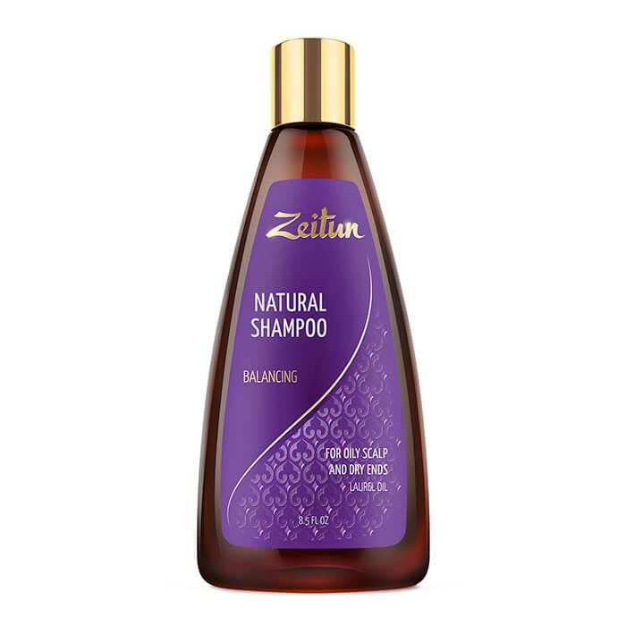 Купить Шампунь для волос Zeitun Natural Shampoo Balancing, Балансирующий шампунь для волос с маслом лавра, Иордания