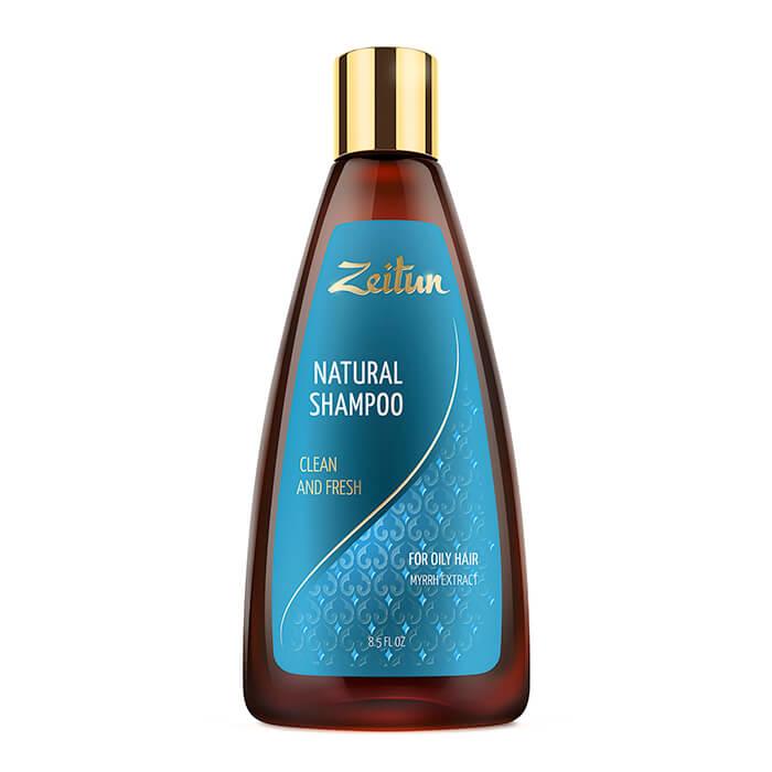 Купить Шампунь для волос Zeitun Natural Shampoo Clean And Fresh, Шампунь для здоровья и свежести волос с экстрактом мирры, Иордания