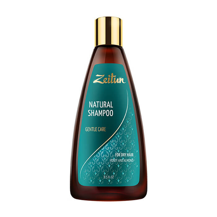 Купить Шампунь для волос Zeitun Natural Shampoo Gentle Care, Шампунь для бережного очищения волос с мёдом и маслом миндаля, Иордания