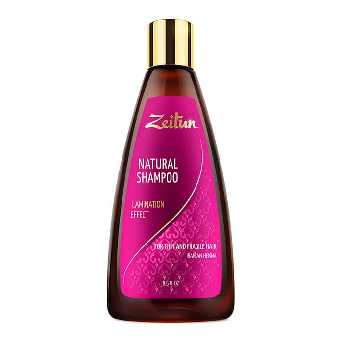 Шампунь для волос Zeitun Natural Shampoo Lamination Effect, Шампунь для волос с эффектом ламинирования и иранской хной, Иордания  - Купить