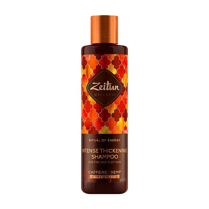 Купить Шампунь для волос Zeitun Ritual of Energy Intense Thickening Shampoo, Бессульфатный шампунь для объёма волос с кофеином и конопляным маслом, Иордания