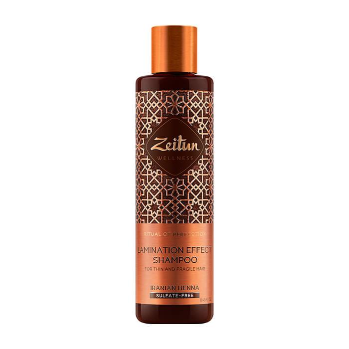 Купить Шампунь для волос Zeitun Ritual of Perfection Lamination Effect Shampoo, Бессульфатный шампунь для эффекта ламинирования волос с иранской хной, Иордания