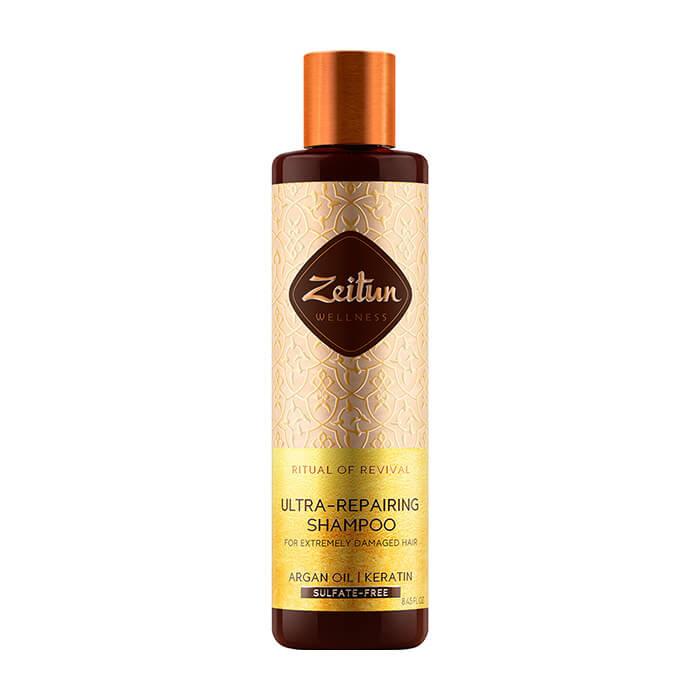 Купить Шампунь для волос Zeitun Ritual of Revival Ultra-Repairing Shampoo, Восстанавливающий шампунь для волос с маслом арганы и кератином, Иордания