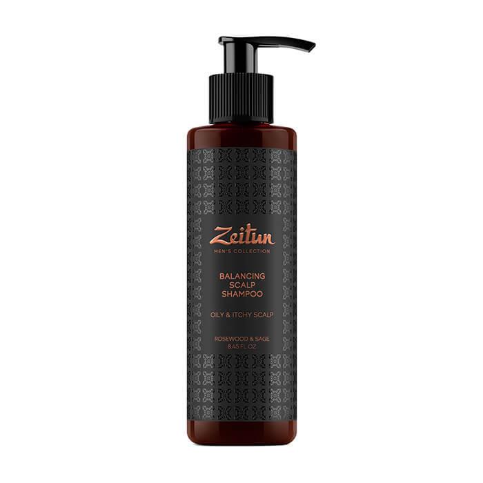 Купить Шампунь для волос Zeitun Rosewood & Sage Balancing Scalp Shampoo, Мужской балансирующий шампунь от перхоти с шалфеем и розовым деревом, Иордания