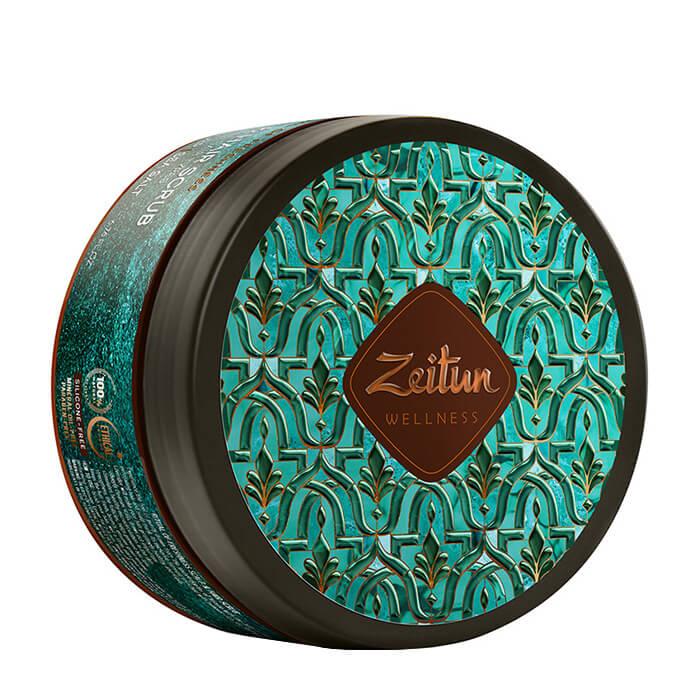 Скраб для кожи головы Zeitun Ritual of Freshness Hair Scrub Маска-скраб для свежести волос и кожи головы с зелёным чаем и био-серой фото