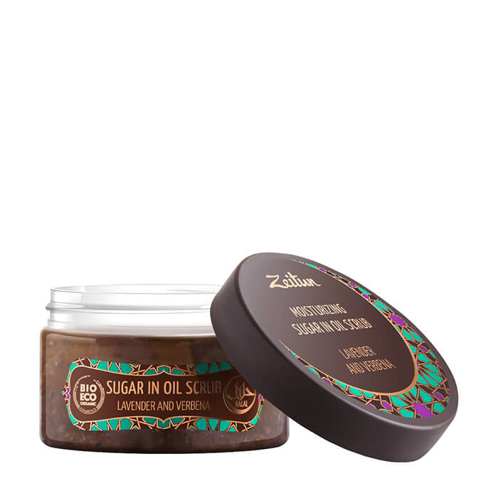 Скраб для тела Zeitun №4 Lavender and Verbena Sugar in Oil Scrub Увлажняющий масляный скраб для тела с лавандой и вербеной фото