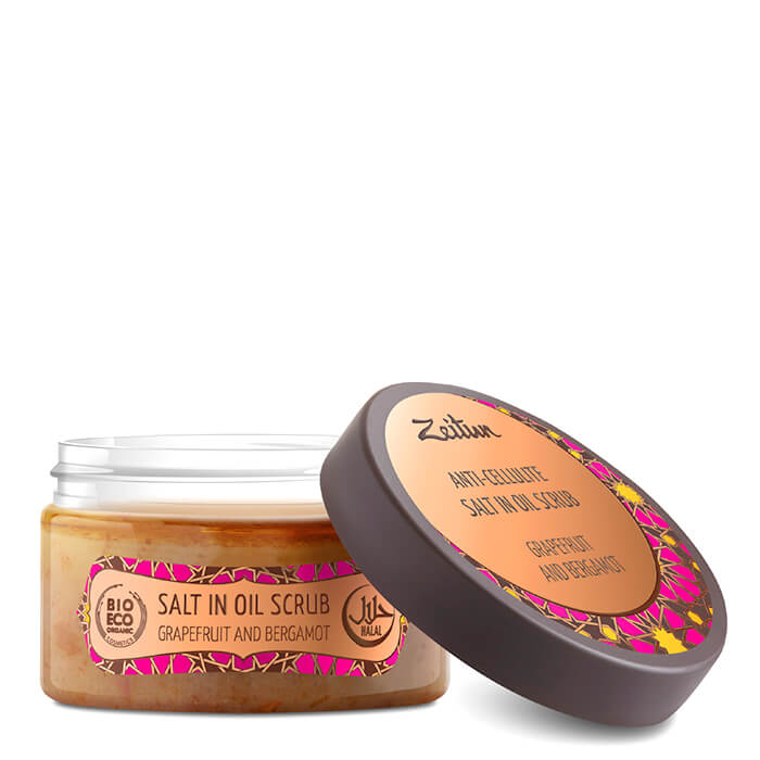 Купить Скраб для тела Zeitun Anti-Cellulite Salt In Oil Scrub Grapefruit & Bergamot №5, Антицеллюлитный масляный скраб для тела с эфирными маслами, Иордания