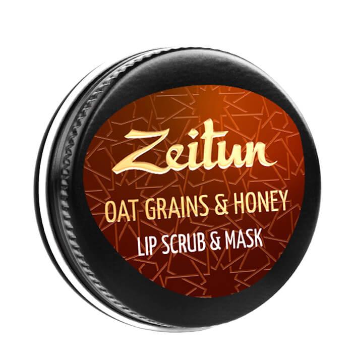 Купить Скраб-маска для губ Zeitun Oat Grains & Honey Lip Scrub & Mask, Скраб-маска для губ с гранулами овса и меда, Иордания