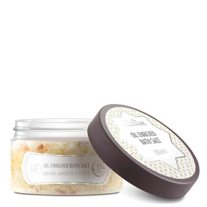Соль для ванны Zeitun Oil Enriched Bath Salt Creamy Сливочная ароматизированная соль для ванны с маслом миндаля фото